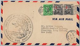 USA Cover - U.S. Air Mail First Flight - 138 - 1a. 1918-1940 Used