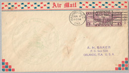 USA Cover - U.S. Air Mail First Flight - 140 - 1a. 1918-1940 Used