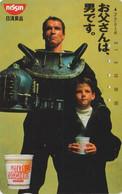 TC JAPON / 110-101855 - CINEMA - SCHWARZENEGGER / UFO Pub NISSIN FOOD - MOVIE Star JAPAN Phonecard - S 17389 - Cinema