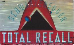 TC ARGENT JAPON / 110-011 - CINEMA - SCHWARZENEGGER - TOTAL RECALL - MOVIE JAPAN SILVER Phonecard - S 17393 - Cinema