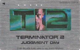 TC ARGENT JAPON / 110-011 - CINEMA - ARNOLD SCHWARZENEGGER - TERMINATOR - MOVIE JAPAN SILVER Phonecard - S 17399 - Cinema