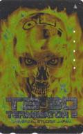 TC DOREE JAPON / 110-016 - CINEMA - ARNOLD SCHWARZENEGGER - TERMINATOR - MOVIE JAPAN GOLD Phonecard - S 17403 - Cinema