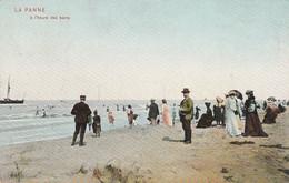 De Panne , La Panne , à L'heure Des Bains ,( DTC Anvers 1905 ,Pan 14 , Kleur ) - De Panne