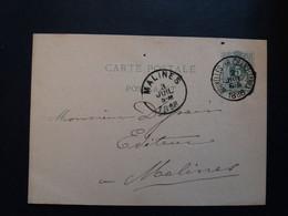 Belgique  Oblitération Bruxelles Rue Chancellerie Sur EP N°17 - Cartoline [1871-09]