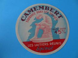 Etiquette De Camembert Les Laitiers Réunis Epinal Vosges 88 - Cheese