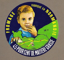 ETIQUETTE De FROMAGE.. CAMEMBERT Fab. En NORMANDIE (14-Y).. ULN à CONDE Sur VIRE (50) - Cheese