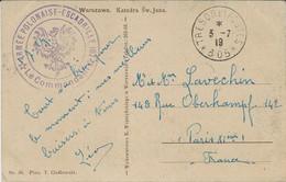 "1919- C P A De Varsovie En F M Cad T & P 305 + ""ARMEE POLONAISE -ESCADRILLE 162 "" - WW I"