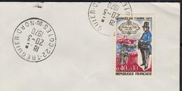 Journée Du Timbre 40c+10c  Y.T.1632  SEUL Sur Enveloppe De 22 TREGUIER  Le 20 3 1970   Pour 53 MAYENNE - 1961-....