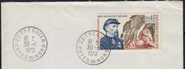Siège De BELFORT 45c  Y.T.1660  SEUL Sur Enveloppe De 22 TREGUIER  Le 30 II 1970  Pour 53 MAYENNE - 1961-....
