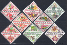 10-4-1963, CAMEROUN - Timbres - Taxe, Tête-bêche, YT No. 35 - 50, Oblitéré, Lot 40316 - Camerun (1960-...)