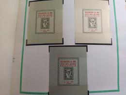 Erinnophilie Vignette Exposition Philatélique VILLENEUVE LE ROI  94 (3 Vignettes9.5X7) NEUVES SANS CHARNIERE 1961 - Exposiciones Filatelicas