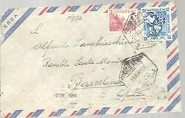 CARTA 1951   CORREO AEREO LAS PALMAS - 1951-60 Cartas