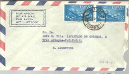 CARTA 1957  SANTIAGO  CORUÑA - 1951-60 Cartas