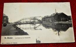 SAINT-GHISLAIN  -   Le Canal Et La Passerelle - Saint-Ghislain