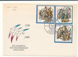 2865 à 2867 Bicentenaire De La Révolution Française Sur Lettre - Covers & Documents