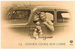 58 UN  BONJOUR   DE COSNES COUR  SUR  LOIRE  CPM  TBE   472 - Cosne Cours Sur Loire