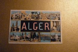CPA Alger - Algérie - Afrique - Carte Multivues Souvenir D'Alger. - Algiers