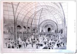 Exposition Universelle 1900 - L'escalier D'Honneur Du Grand Palais - Page Original 1900 - Documenti Storici