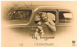 60  UN  BONJOUR  DE LIANCOURT  CPM  TBE   477 - Liancourt