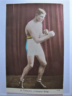 SPORTS - BOXE - H. Tyncke - Champion Belge - Boxing