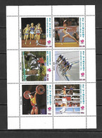 St Vincent Gr 1988 Olympic Games SEOUL Sheetlet MNH (DMS16) - Verano 1988: Seúl
