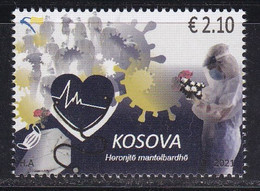 Kosovo 2021 White Coat Heroes Covid 19 Corona Health Disease Medicine Doctors Stamp MNH - Kosovo