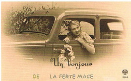 61  UN  BONJOUR   DE LA  FERTE  MACE  CPM  TBE   483 - La Ferte Mace