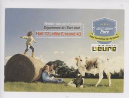 Eure (27) Salon International De L'agriculture - Normandie Vache Veau Meule, Balle De Foin Couple Enfant - Publicité