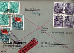 ! 1954 DDR Eilboten Brief Aus Döbeln, Karl Marx - Cartas