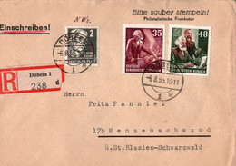 ! 1953 DDR Einschreiben, Brief Aus Döbeln, Karl Marx - Cartas