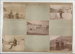 MONACO ENSEMBLE DE 5 PHOTOS TIREES D'UN ALBUM DE 1903 (PALAIS TERRASSE DU CHATEAU ...) - Plaatsen