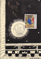 SOUVENIR PHILATELIQUE / FÊTE DES LUMIERES  LYON 69 / 8.12.1987 / FED DES GROUPEMENTS SOCIAUX DU PERSONNEL DES PTT - Documents Of Postal Services