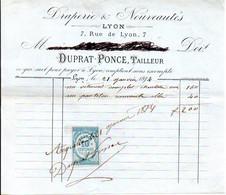 Draperie & Nouveautés - DUPRAT-PONCE - Lyon 1874 - 1800 – 1899
