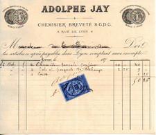 Chemisiers Brevetés - Adolphe JAY - Lyon 1874 - 1800 – 1899