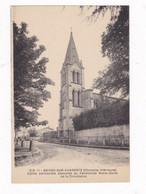 CPA Brives-sur-Charente (17), église Paroissiale Attenante Au Pensionnat Notre-Dame De La Providence - Andere Gemeenten