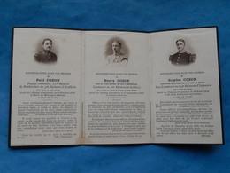 FAIRE PART DECES POILU  MILITAIRE WWI Lihons Main De Massiges St Jean De Bassel 52 / 16 134  Régiment Artillerie - Documenti