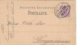 Allemagne Ambulant BRESLAU-DITTB-KOHLFURT Sur Entier Postal Privé 1886 - Cartas