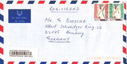 Qatar Registered Air Mail Cover Sent To Germany 19-7-1997 - Qatar