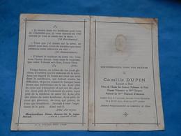 Genealogie FAIRE PART DECES  MILITAIRE SCIENCES POLITIQUES  14 EME  DRAGON WWI 16 RI  SAINT QUENTIN 1917 - Documenti