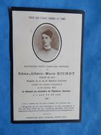 Genealogie FAIRE PART DECES  POILU MILITAIRE 1917  BRIGADIER 54 RI FIGNIERES SOMME - Documents
