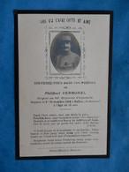 Genealogie FAIRE PART DECES  POILU MILITAIRE  SERGENT 161 RI BALLAY ARDENNES 1918 - Documenti