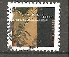 FRANCE 2021 Y T N ° 1??? Oblitéré CACHET ROND KANDINSKY - Oblitérés