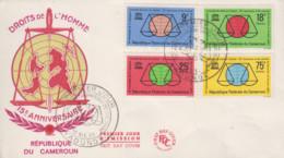 Enveloppe  FDC  1er  Jour    CAMEROUN    15éme  Anniversaire  De  La  Déclaration  Des  Droits  De  L' Homme    1963 - Camerun (1960-...)