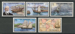 GUERNESEY 1983  N° 276/280 **  Neufs MNH Superbes C 5.75 € Bateaux Voiliers Sailboats Marine Marchande Star Of The West - Guernesey