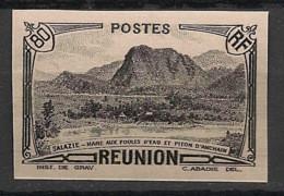 Réunion - 1933 - N°Yv. 138Aa - 80c Noir - Variété - Non Dentelé / Imperf. - Neuf Luxe ** / MNH / Postfrisch - Neufs