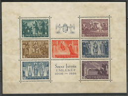 Hungary,900 Years Of Death-St.Stephan 1938.,block,MNH - Ongebruikt