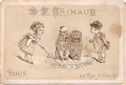 Chromos.AM14928.6x9 Cm Environ.Grimaud.Cartes à Jouer.Enfants Jouant Avec Leurs Chiens - Altri