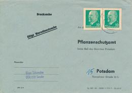 FRIESACK  -  1961  ,  Umschlag An Das Pflanzenschutzamt  Mit Postkartenausschnitte Als Frankatur - Briefe U. Dokumente