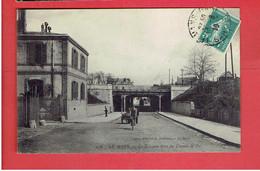 LE MANS 1910 NOUVEAU PONT DE CHEMIN DE FER URINOIR PUBLIC CARTE EN BON ETAT - Le Mans