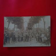CARTE PHOTO TROYES PONT SAINTE MARIE FANFARE FETE DES FLEURS - Autres Communes